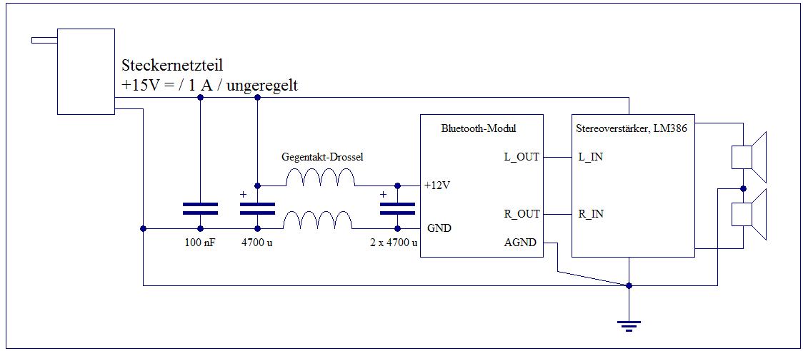 Elektronik-Projekte - Stereoverstärker mit LM386