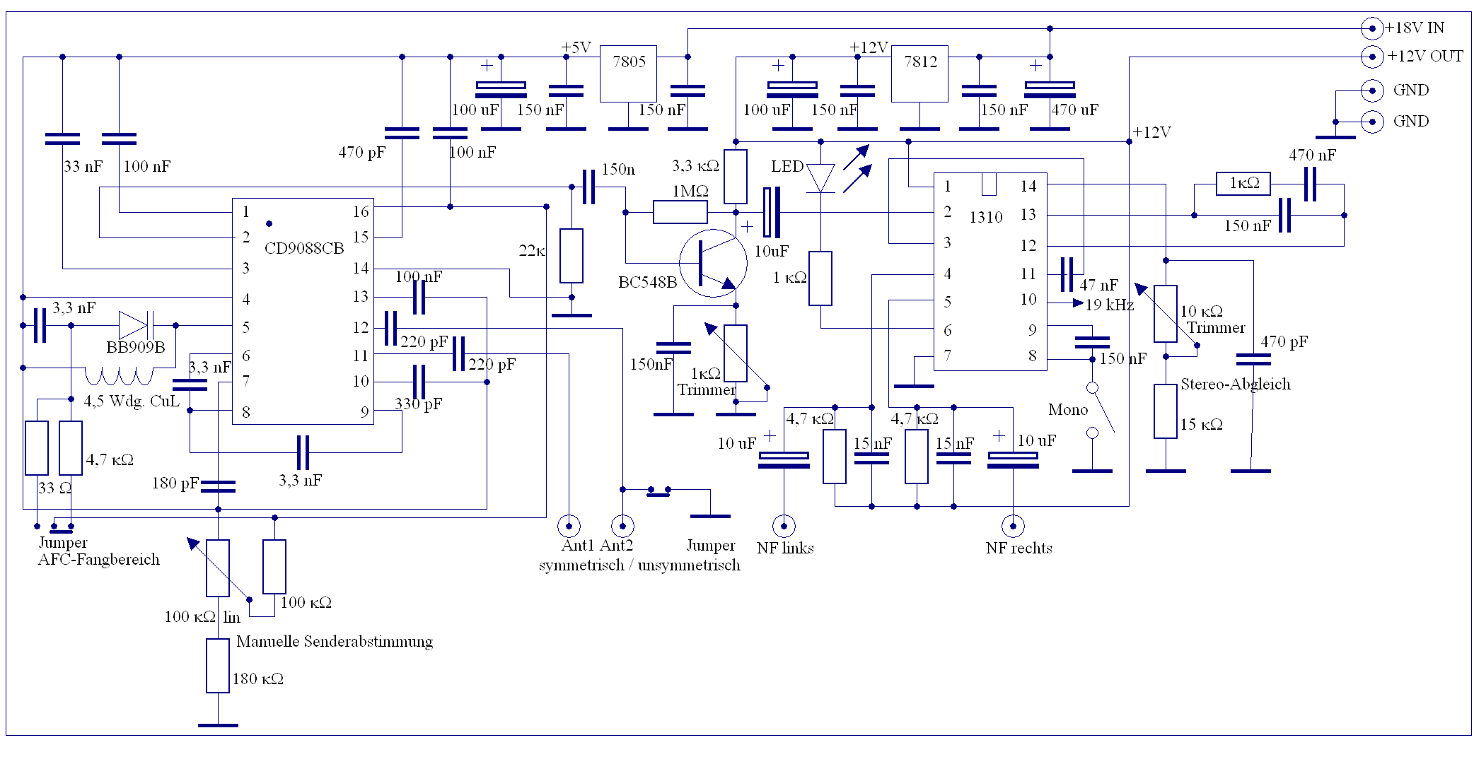 Elektronik-Projekte - UKW-Stereo-Receiver