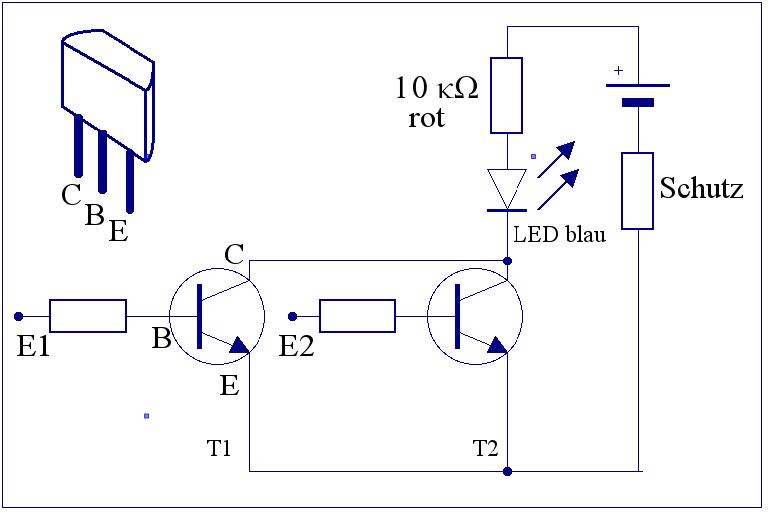 elektronik projekte logikschaltungen mit transistoren. Black Bedroom Furniture Sets. Home Design Ideas