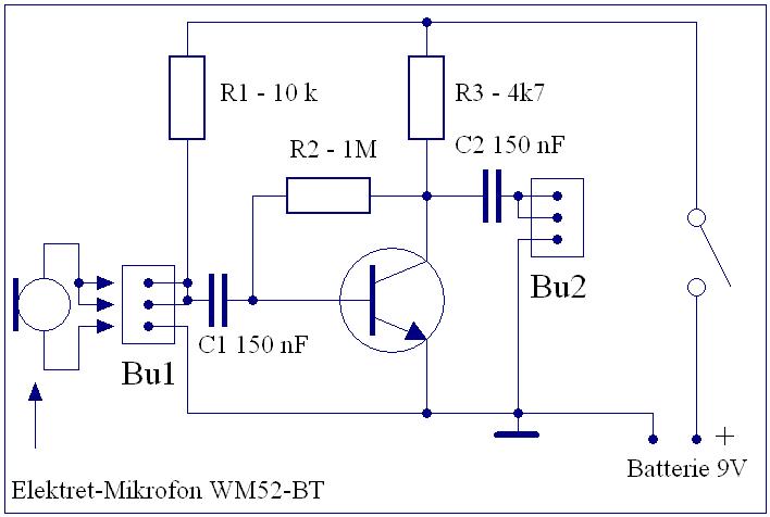 Elektronik-Projekte - Mikrofonverstärker