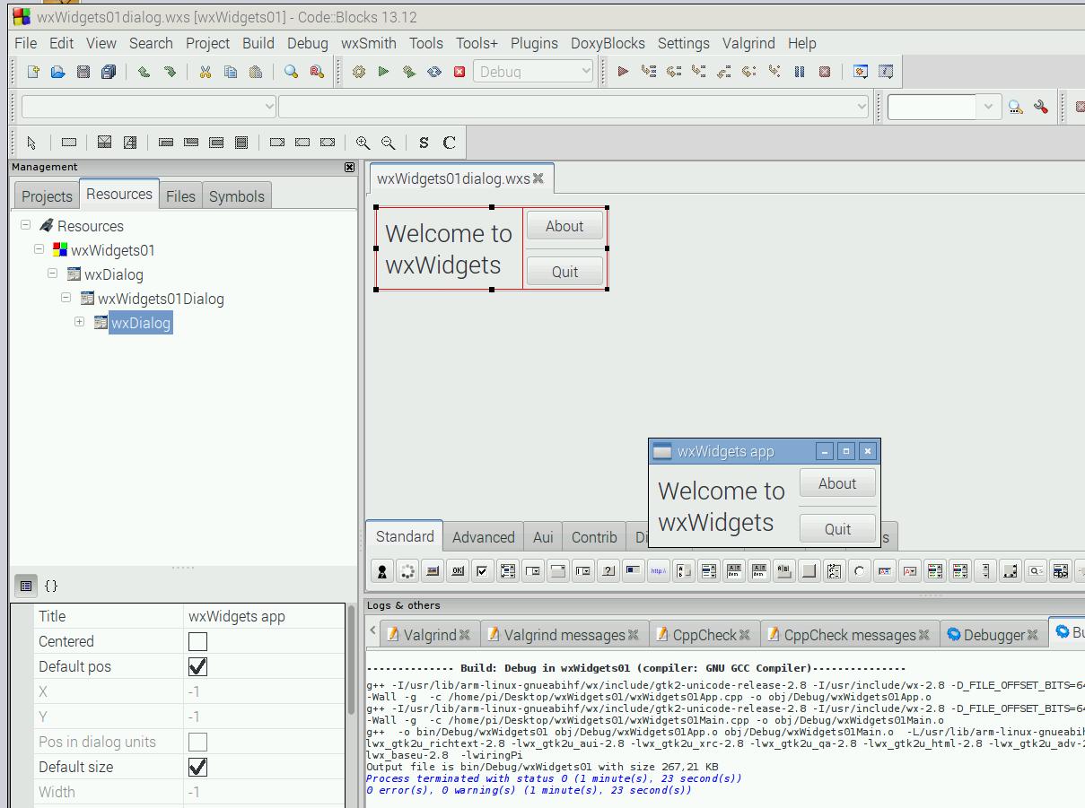 Elektronik Projekte Gui Mit Codeblocks Und Wxsmith Wiringpi Sudo Wxwidgets