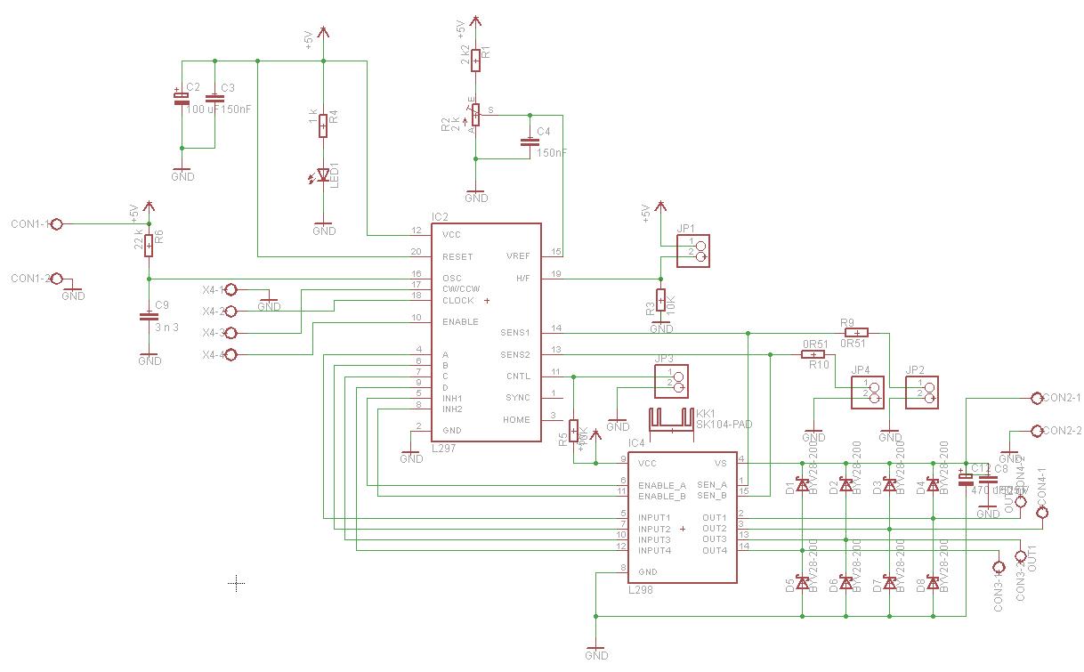 Elektronik-Projekte - Schrittmotor-Controller