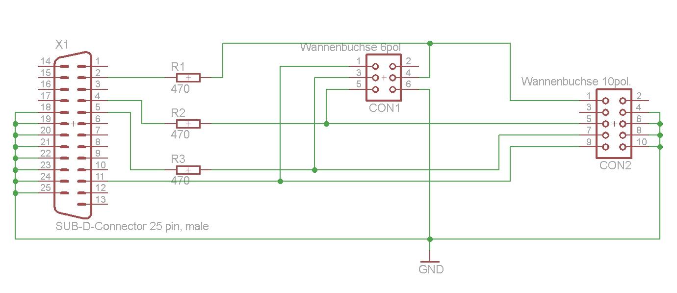 Elektronik Projekte Avr Programmer Selbst Bauen Via Parallel Port