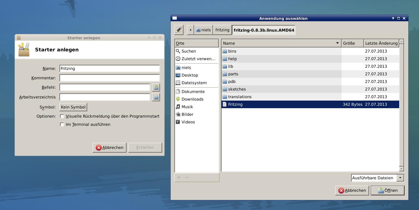 Elektronik-Projekte - Linux Starter erstellen